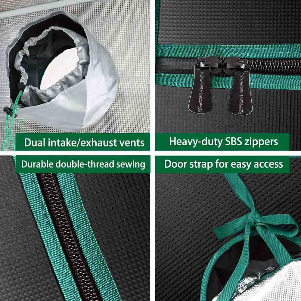 Heavy duty SBS zipper